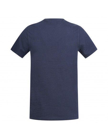 Levi's - T-shirt blu manica corta con patch logo per uomo | 56605-0017