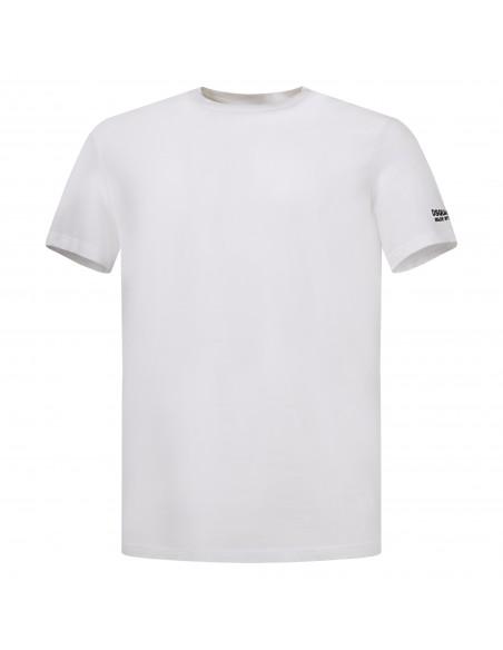 Dsquared2 - T-shirt bianca manica corta con stampa logo per uomo | d9m203520 100