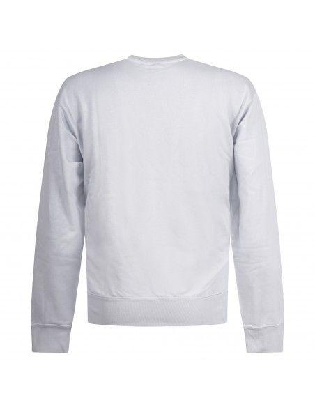 Adidas Originals - Felpa celeste girocollo con patch logo per uomo   gn3373
