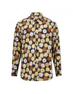 Camicia multicolore con stampa floreale all over