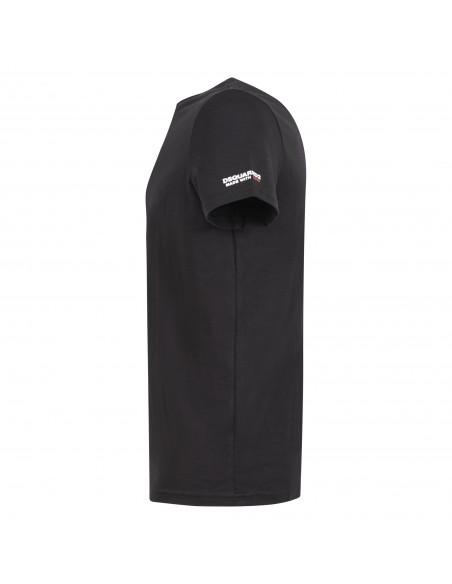 Dsquared2 - T-shirt nera manica corta con stampa logo per uomo | d9m203520 001