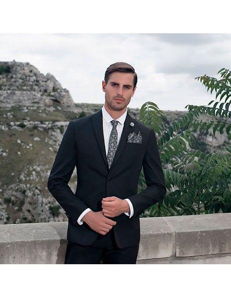 Angelo Toma - Abito classico nero per uomo |