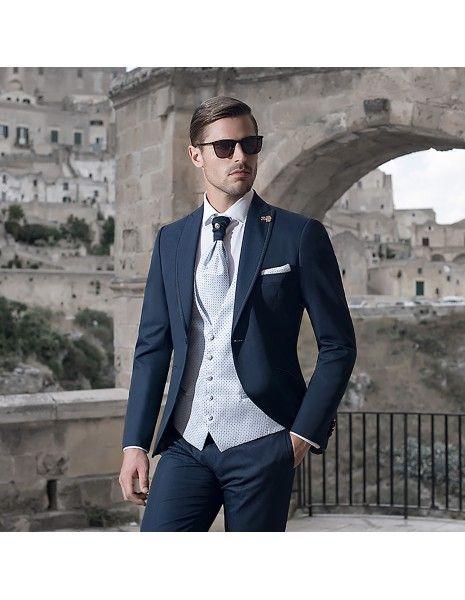 Angelo Toma - Abito classico blu per uomo  