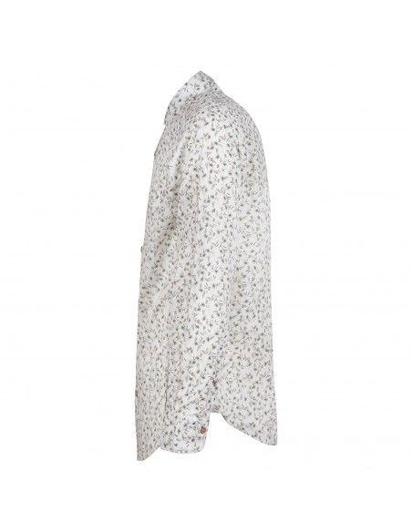 Portofiori - Camicia bianca con stampa pappagalli all over per uomo | geranio