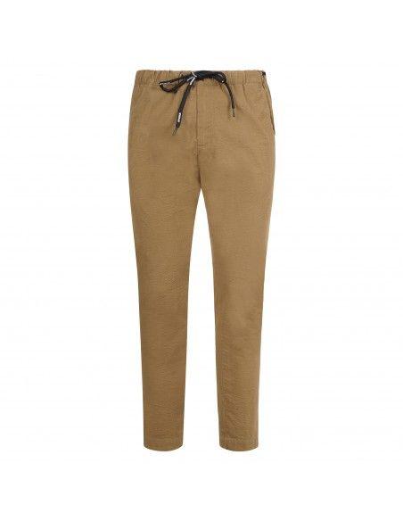 Officina36 - Pantaloni beige con elastico in vita e coulisse per uomo | 2801t