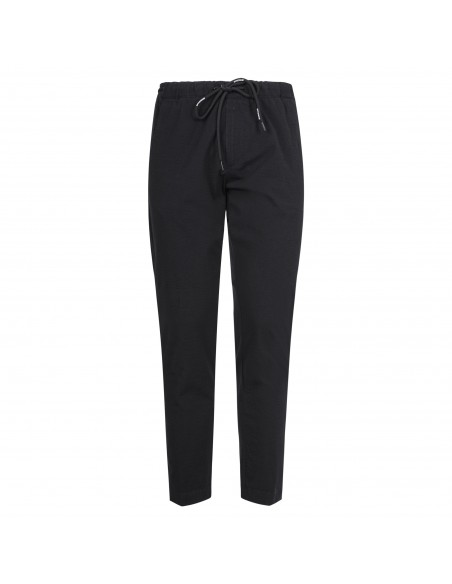 Officina36 - Pantaloni nero con elastico in vita e coulisse per uomo | 2801t