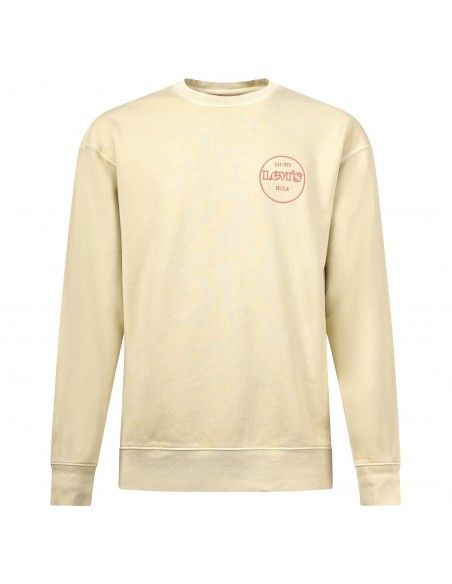 Levi's - Felpa gialla girocollo con logo per uomo | 38712-0018
