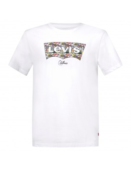 Levi's - T-shirt bianca manica corta con patch logo per uomo   22489-0318