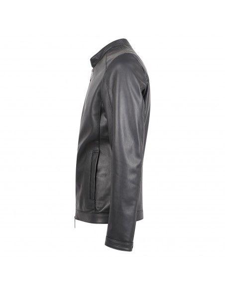 Masterpelle - Giubbotto nero biker in pelle per uomo | mp20ss771 nero