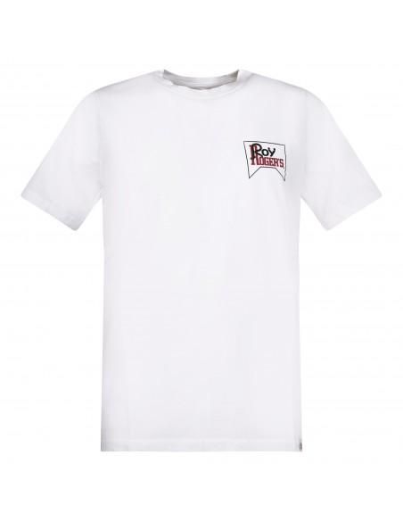 Roy Roger's - T-shirt bianca manica corta con stampa logo per uomo  