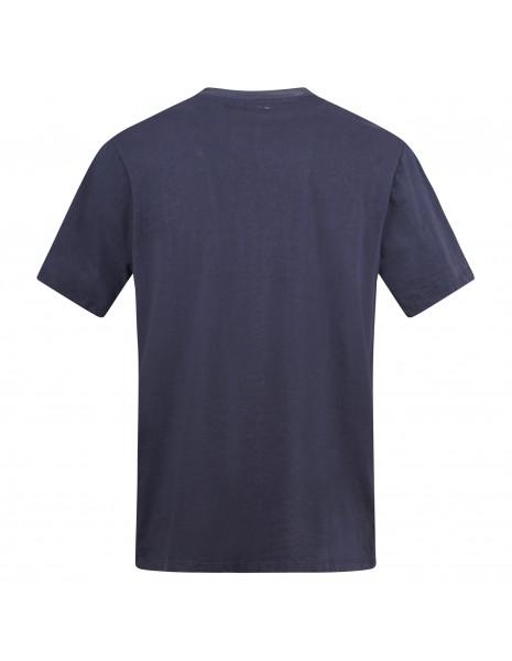 Roy Roger's - T-shirt blu manica corta con taschino sul petto per uomo |