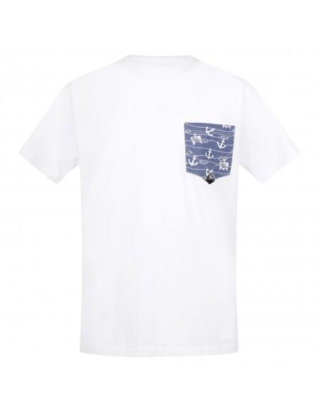 Roy Roger's - T-shirt bianca manica corta con taschino sul petto per uomo  