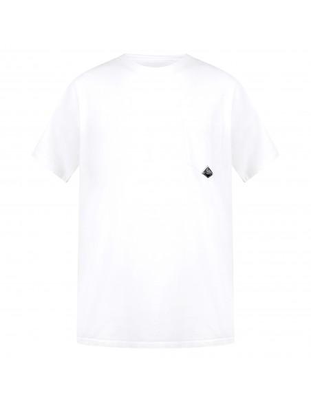 Roy Roger's - T-shirt bianca manica corta con taschino sul petto per uomo |