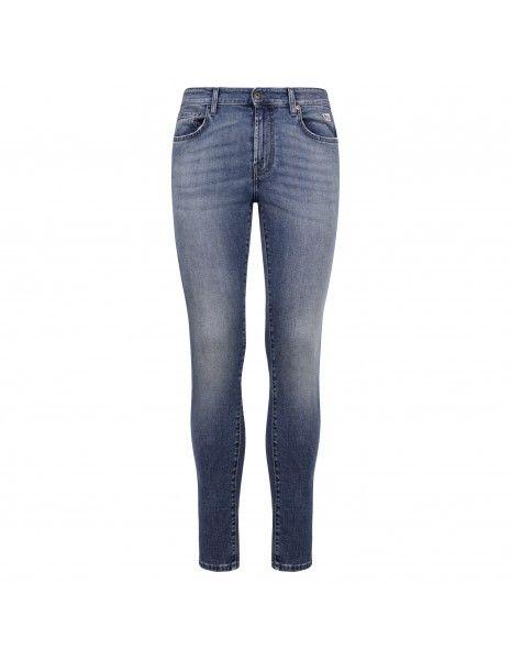 Roy Roger's - Jeans 317 5 tasche denim medio skinny per uomo | p21rru076d3171630