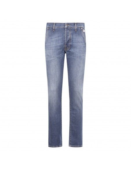 Roy Roger's - Jeans elias tasca a filo denim medio slim per uomo |