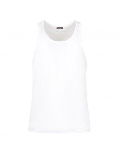 Dsquared2 - Canotta bianca con stampa logo per uomo | d9d203550 100