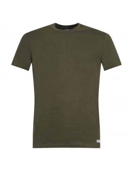 Dsquared2 - T-shirt verde manica corta con stampa logo per uomo | d9m203500 302