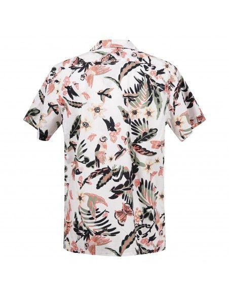 Levi's - Camicia mezza manica bianca con stampa multicolore per uomo |