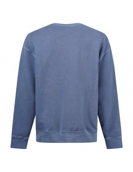 Levi's - Felpa blu girocollo con logo per uomo | 38712-0022