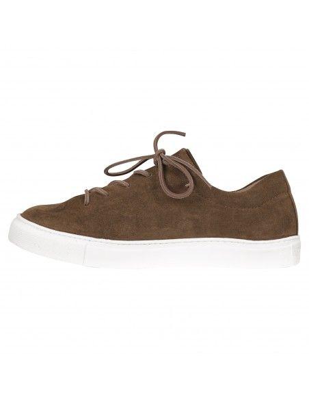 Kjore project - Sneakers marrone in suede per uomo | faer oer pzd 1000 cognac