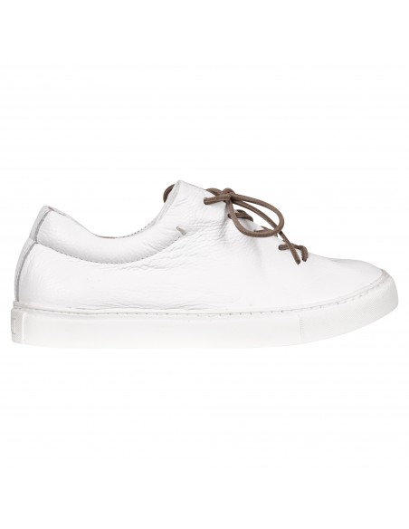 Kjore project - Sneakers bianca in pelle martellata per uomo   faer oer pzd
