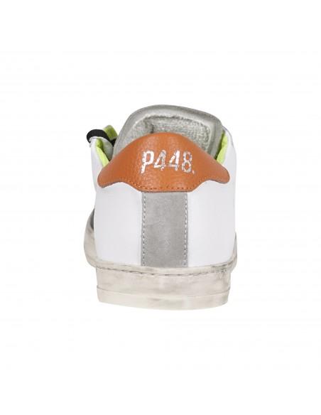 P448 - Scarpa bianca in pelle con logo per uomo   s21john-m people