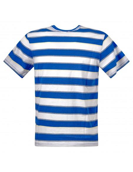 Levi's - T-shirt multicolor rigata manica corta con patch logo per uomo  