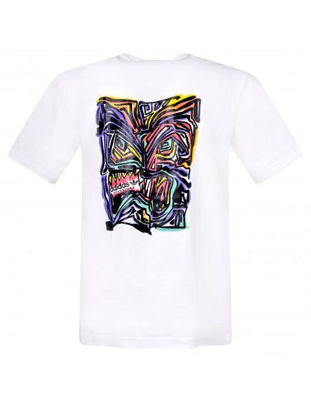 Adidas Originals - T-shirt bianca manica corta con stampa logo per uomo | gn2377