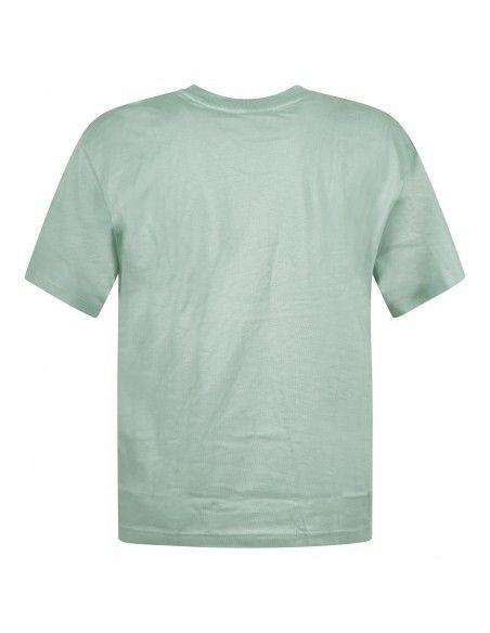Adidas Originals - T-shirt verde manica corta con patch logo per uomo | gn3377