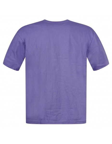 Adidas Originals - T-shirt viola manica corta con patch logo per uomo   gn3376