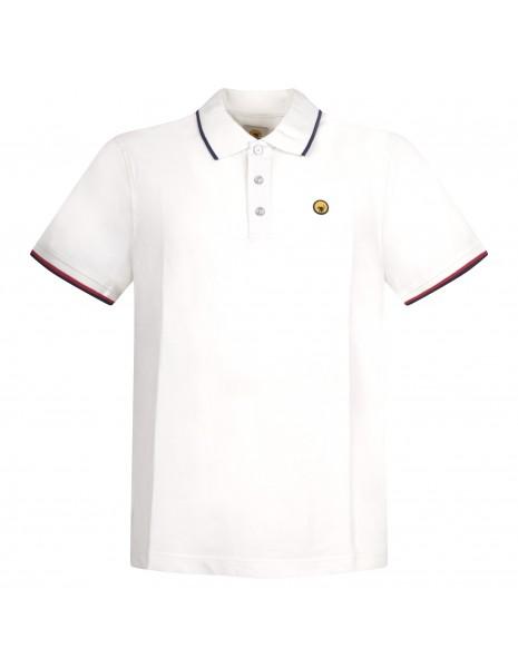 Ciesse Piumini - Polo bianca manica corta con patch logo per uomo | pier c2510x