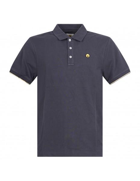 Ciesse Piumini - Polo blu manica corta con patch logo per uomo | piff c0530x