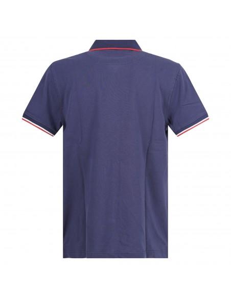 Ciesse Piumini - Polo blu manica corta con patch logo per uomo | pier c2510x