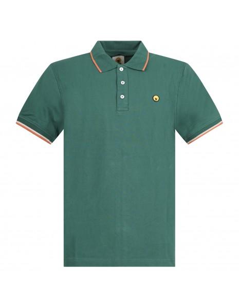 Ciesse Piumini - Polo verde manica corta con patch logo per uomo | pier c2510x