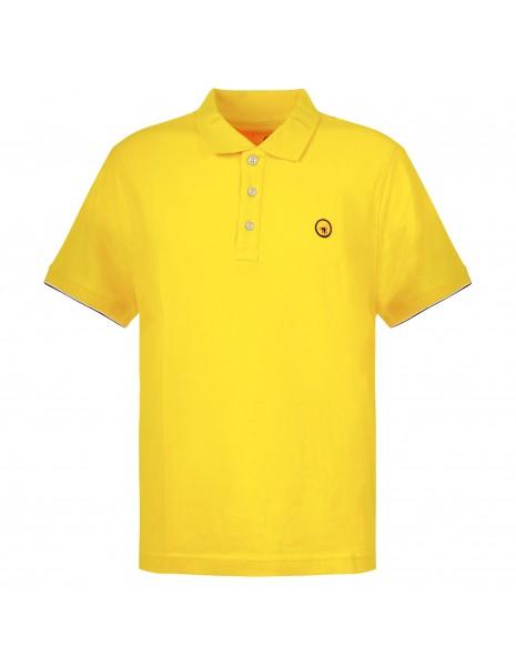 Ciesse Piumini - Polo gialla manica corta con patch logo per uomo   piff c0530x