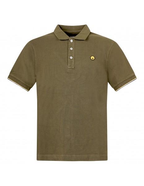 Ciesse Piumini - Polo verde manica corta con patch logo per uomo | piff c0530x