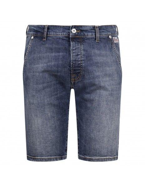 Roy Roger's - Bermuda jeans tasca a filo denim medio slim per uomo |