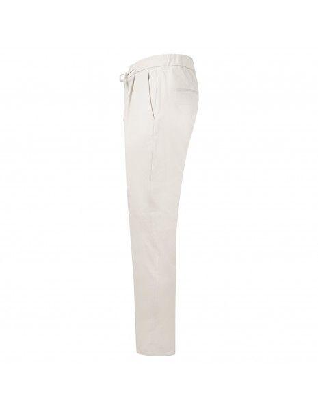 Luca Bertelli - Pantalone beige con elastico in vita e coulisse per uomo |