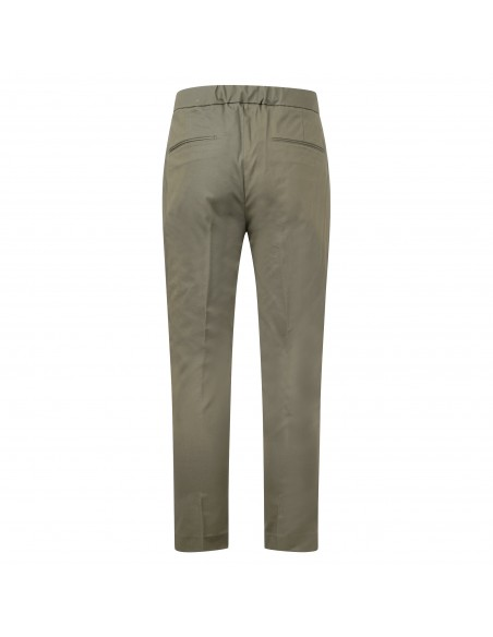 Luca Bertelli - Pantalone verde con elastico in vita e coulisse per uomo  