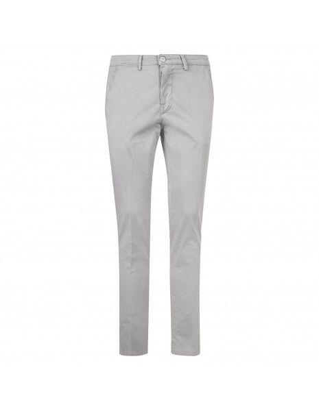 Luca Bertelli - Pantalone grigio tasca a filo per uomo | p1600 skin grigio