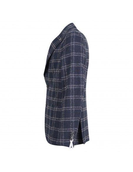 Sartoria Latorre - Giacca blu check per uomo   erice q50782