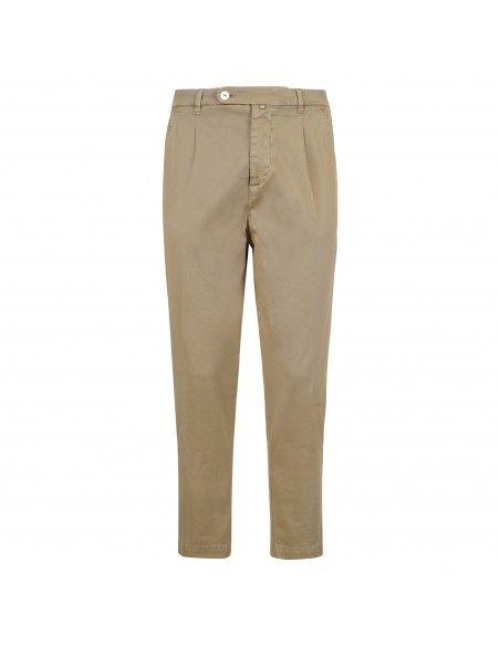Officina36 - Pantalone beige tasca a filo con pinces per uomo | 2820p connor
