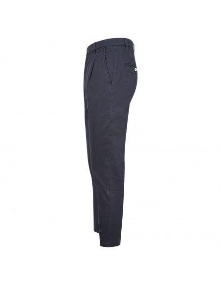 Officina36 - Pantalone blu tasca a filo con pinces per uomo | 2820p connor
