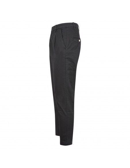 Officina36 - Pantalone nero tasca a filo con pinces per uomo | 2820p connor