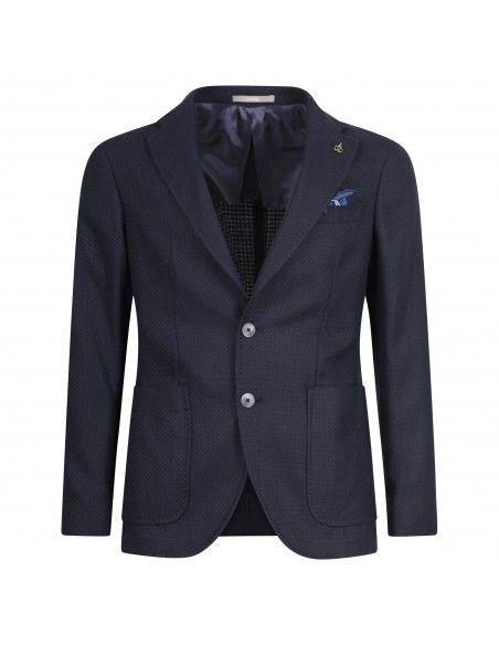 Paoloni - Giacca blu lavorata per uomo   g156 201055