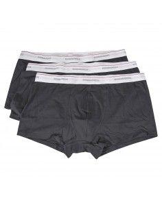 Set boxer neri da 3 pezzi con elastico