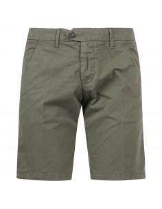 Bermuda verde in cotone tasca a filo slim