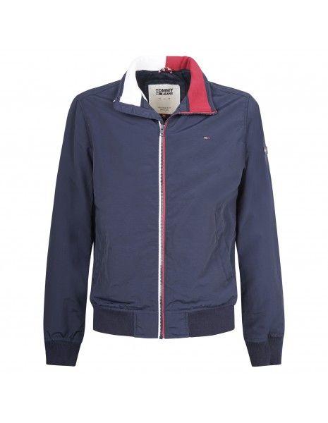 Tommy Jeans - Giubbotto blu con zip e patch logo per uomo | dm0dm05423 002