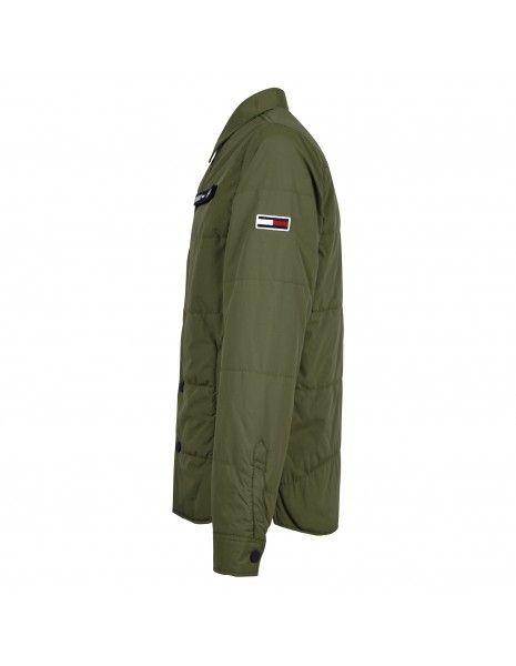 Tommy Jeans - Giubbotto verde con patch logo per uomo | dm0dm07367lc6