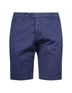 Bermuda blu in cotone tasca a filo slim